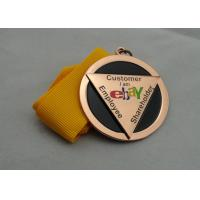 Wholesale Die Casting Ribbon Medals with Imitation Hard Enamel, Copper Plating And Gold Plating, 2 Levels from china suppliers