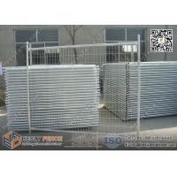 Buy cheap 2100mm*2400mm Temporary Fencing Panles Hot Dipped Galvanised 60*150mm anti-climb infilled meshISO certificated Supplier from wholesalers