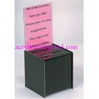 Wholesale Acrylic donation box / plexiglass suggestion box / plastic collection box from china suppliers