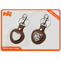 Buy cheap Colorful Personalized Engraved Keychains , Hard Custom Shape Metal Keychains from wholesalers