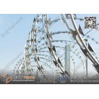 Quality 600mm O.D BTO-22 Cross Coil Concertina Razor Wire | Razor Wire China Factory for sale