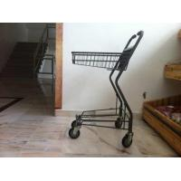 Wholesale Japanese Metallic Supermarket Shopping Trolley / Grocery Cart With Wheels from china suppliers