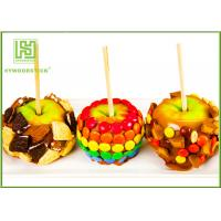 Wholesale Natural Color Pointed Wooden Sticks , Candy Apples Sticks For Supermarket from china suppliers