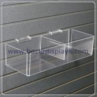 Wholesale Clear Acrylic Slatwall Bin with Two Bins for Document Display from china suppliers
