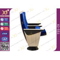 Wholesale Maple Veneer Blue Upholstered Auditorium Chairs With Heater Air Output Under Seat Pad from china suppliers