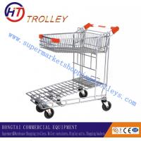 Wholesale Zinc Plated Folding Warehouse Hand Trolley With Four Wheels For Supermarket from china suppliers