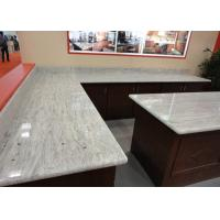 Quality Gray White Indian Granite Kitchen Counter Tops , Household Granite Kitchen Worktops for sale