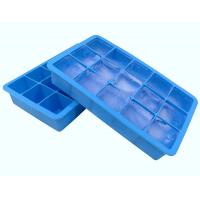 Fancy 15 Cavity Silicone Chocolate Molds , Easy Make Large Square Ice Cube Tray