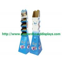 China blue Cell Accessories Pop Cardboard Displays Stand for supermarket on sale