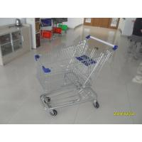 Wholesale Low Tray 100L Supermarket Shopping Trolley European Steel With Blue Baby Seat from china suppliers