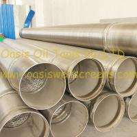Wholesale Stainless steel 316L pipe base screen pipe/johnson screens/water well screens from china suppliers