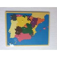 Wholesale Montessori Materials - Puzzle of Spain 57*45cm from china suppliers