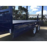 Wholesale Galvanised Steel TRAY TOP 10x8 Tandem Flat Top Trailer With 2.1mm Rolled Checker from china suppliers