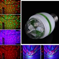 Wholesale E27 3W Colorful Auto Rotating RGB LED Stage Bulb Light from china suppliers
