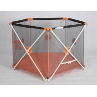 Wholesale Outside Folding Portable Playpens For Babies / Adjustable Child Playpen Fence from china suppliers