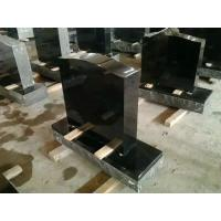 Buy cheap China absolute black shanxi black granite headstone on sale from wholesalers