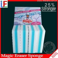 Buy cheap OEM Yellow Pu White Compressed Melamine Sponge Kitchen Cleaning Eraser from wholesalers