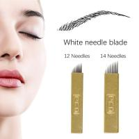 Wholesale Dia. 0.18mm 12 / 14 Pin Super Thin Microblading Blades Gold Hard PMU Blades For Eyebrows from china suppliers
