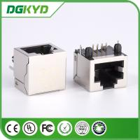Wholesale 1000 BASE - T RJ45 Shielded Connector , DGKYD -56SWDNL 1 port RJ45 Modular Jack from china suppliers