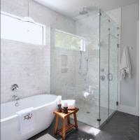 Wholesale Modern tempered glass white line glass Shower Room compact shower enclosure from china suppliers