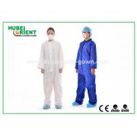 Quality PP Non-Woven Disposable Coverall Suit Without Hood And Feet Cover for sale