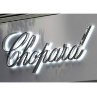 "Wholesale Polished Stainless Steel LED Backlit Sign Letters Signage With Height 24"" from china suppliers"