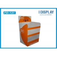 Colorful Innovative Retail Cardboard Floor Displays Stand With UV Coating