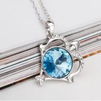 Wholesale 140233 Aquamarine Sagittarius Necklaces constellation jewelry wholesale distributors-december birthstone pendant online from china suppliers
