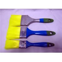 Wholesale Nylon Flat Nylon Paint Brushes For Interior Wall Painting , Wooden Handle Paint Brush from china suppliers