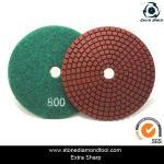 velcro backed wet stone diamond polishing pads/marble abrasive tools
