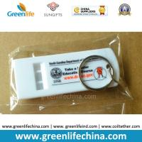 Wholesale High Quality Fashionable White Flat Whistle Customized Printing w/Split Ring from china suppliers