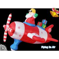 Wholesale Oxford Pilot Santa Claus/ Inflatable Santa with Spaceship for Christmas from china suppliers
