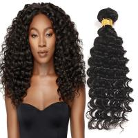 Wholesale Natural Black Virgin Human Hair Bundles Without Lice / Machine Double Weft from china suppliers