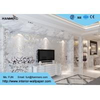 Wholesale 3D Design Silver Grey European Modern Wallpaper for Bedrooms TV Background from china suppliers