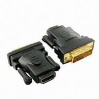 Wholesale HDMI to DVI Adapter with 30mm Length, Nickel-plated Connector and PCB Inside from china suppliers
