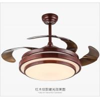 Wholesale 36W LED Light Pure White 42inch Hidden blades Nicke Color Ceiling fans with Light. from china suppliers