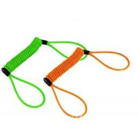 Wholesale Colorful anti-drop spring steel spiral lanyard w/ big loop ends to protect valuable tools from china suppliers