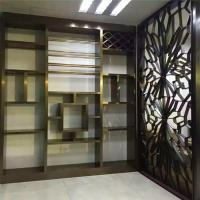 Wholesale Interior Design partition wall stainless steel panel in bronze finish on sale from china suppliers