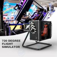 Wholesale Intelligent Induction Seat Belt 720 degree VR Flight Simulator In Malls 3.5KW from china suppliers