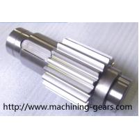 Wholesale Non - Standard Helical Spline Shaft , Carbon Steel / Alloy Steel Gear Shaft from china suppliers