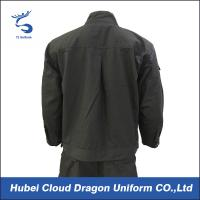 Quality Poly Cotton Black Swat Security Workwear Uniforms Embroidery Logo For Police Duty for sale