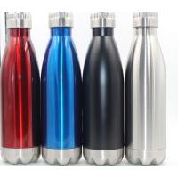 Wholesale Insulated Double Wall Vacuum Stainless Steel sport Water Bottle / Stainless Steel Thermal Travel Bottle 17oz from china suppliers