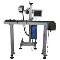 0.15mm Minimum Character Flying Laser Marking Machine 20 Watt for pvc