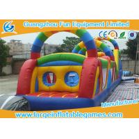 Wholesale Jumping Obstacle Course For Kids , Bouncy Obstacle Course Jumper Rental from china suppliers