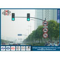 Wholesale Outdoor Single Arm Galvanized Traffic Light Post Energy Saving from china suppliers