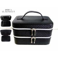 Quality Professional Black Custom Packing Boxes Women Cute Cosmetic Bags With Handle for sale