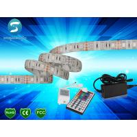 Quality 5m 5050 RGB led strip 60leds/m  led strip,WhitePCB, with 44 keys IR Remote controller for sale