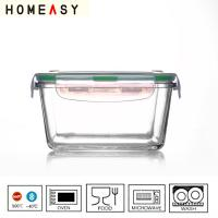 Wholesale Square Pyrex Glass Containers , High Borosilicate Lunch Box 400ml from china suppliers