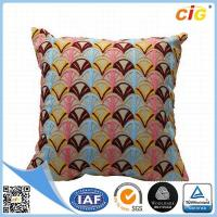 Wholesale Polyester Or Cotton Embroidered Decorative Throw Pillows for Bed Red Grey Blue Green from china suppliers