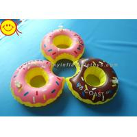 Wholesale PVC Inflatable Water Floats Food Floating Donut Inflatable Drink Holder / Cup Holder from china suppliers